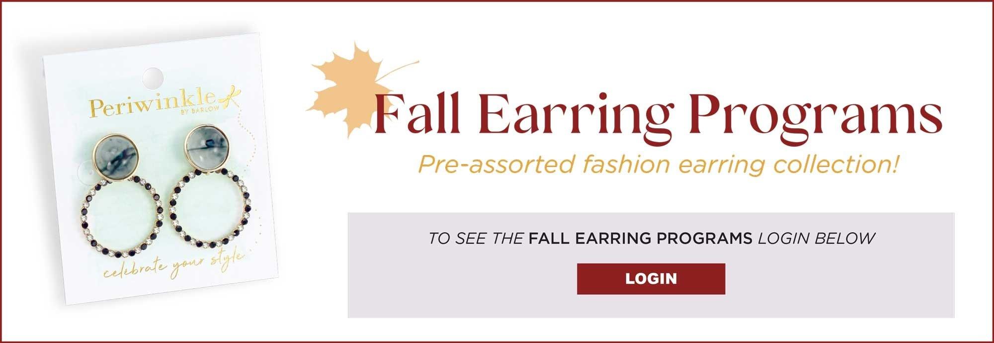 FALL EARRING PROGRAMS